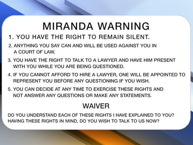 a report on miranda warnings Miranda warnings / rights wave systems corporation books & reference everyone 62  report flag as inappropriate offered by.