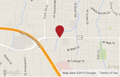 Grapevine Criminal Defense and DWI Lawyer Map