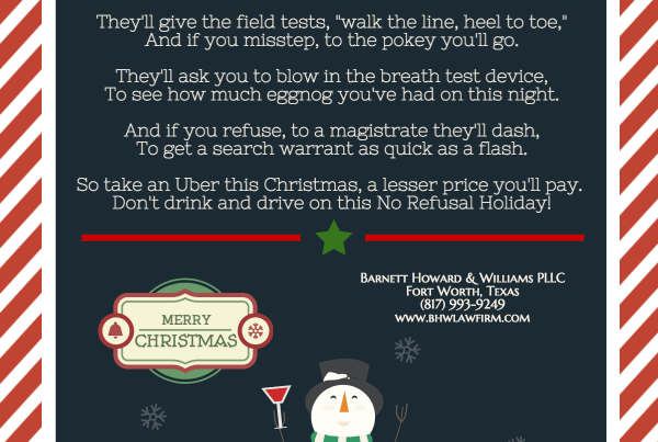 DWI No Refusal Christmas Fort Worth