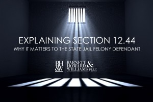 1244(a) and 1244(b) State Jail Felony Reduction