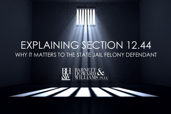 12.44(a) and 12.44(b) State Jail Felony Reduction
