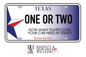 Texas front license plate law