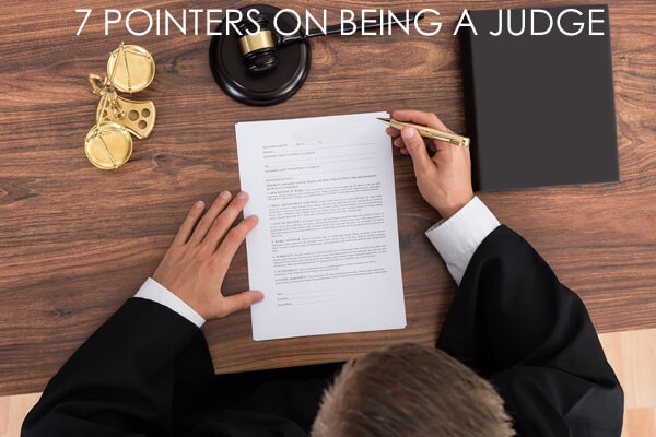Pointers on Being a Judge Fort Worth Criminal Defense
