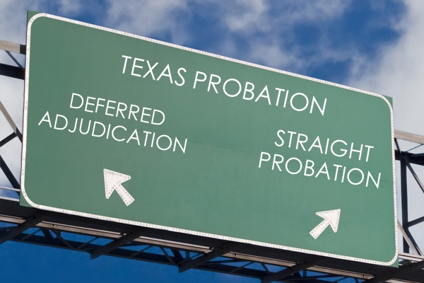 Difference in Deferred Adjudication Straight Probation in Texas