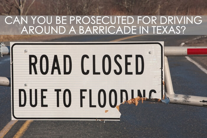 Driving Around Barricade Crime Texas