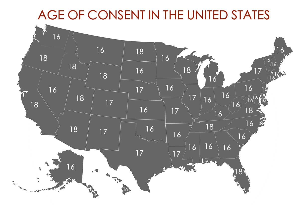 Age Of Consent Usa Map What is the Age of Consent in All 50 States? | Legal Age of
