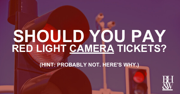 Should I Pay My Red Light Camera Ticket? No  And Here's Why