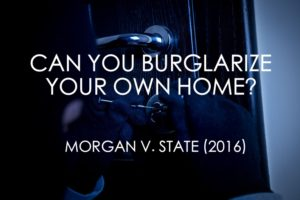 Texas Burglary Own Home