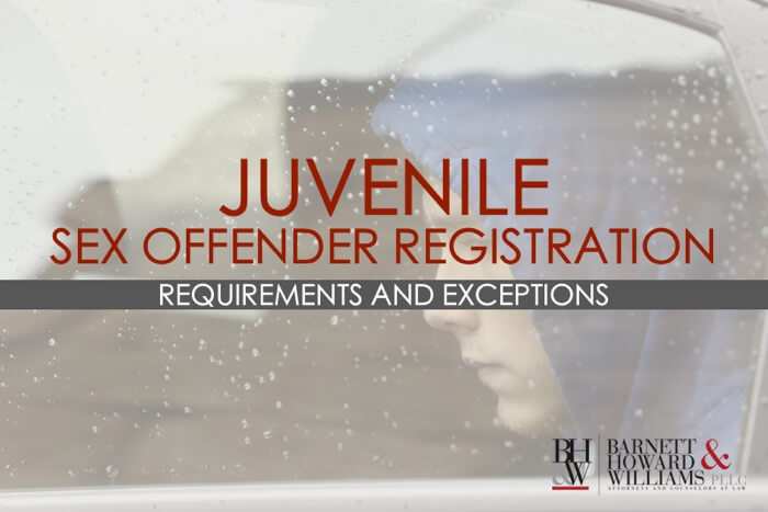 Juvenile Sex Offender Registration Texas