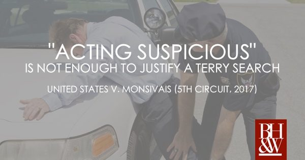 Terry Stop Officer Pat Down Search