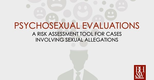 psychosexual evaluation sex offender risk assessment