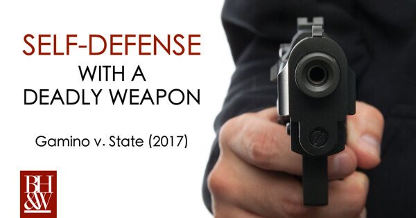 Self-Defense Jury Charge Texas