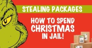 stealing presents Christmas theft package
