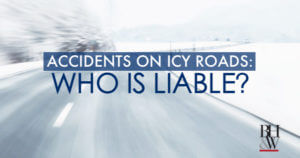 Accident on Icy Road
