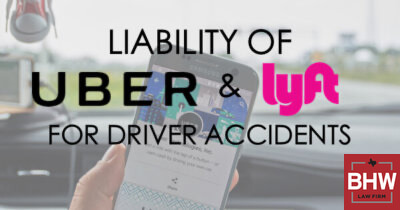 Uber Lyft Accident Claim Liability Texas