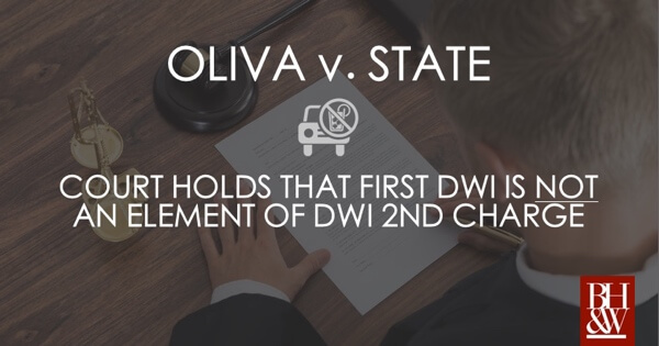 Oliva Overturned DWI 2nd Elements