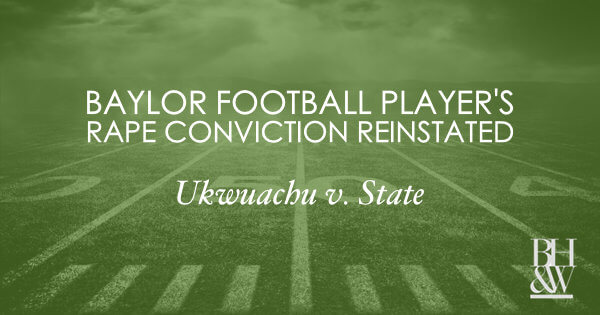 Baylor Football Ukwuachu Sexual Assault