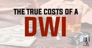 DWI Costs Texas