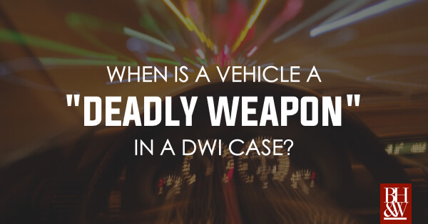 Deadly Weapon DWI Couthren v State